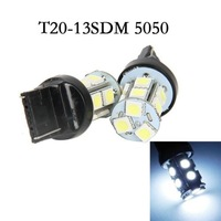 Free Shipping T20 White 13SMD 5050 LED 7440  Bulb Signal Tail Brake Light Lamp Bulb