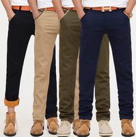 Free shipping! Hot sale winter fashion thicken men's casual pants new design Regular cotton pants 4colors plus size 28~40 #ZJJ94