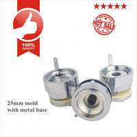 25mm Aluminium Alloy Round/Circular Badge/Button Mould/Dies With ABS Plastic Slide Rail For Button Making Machine #1001 or #1002