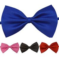 50pcs/lot Wholesale Solid Children's Fashion Adjustable Bow Tie  Page Boy Flower Girl Bowties 16 Colors