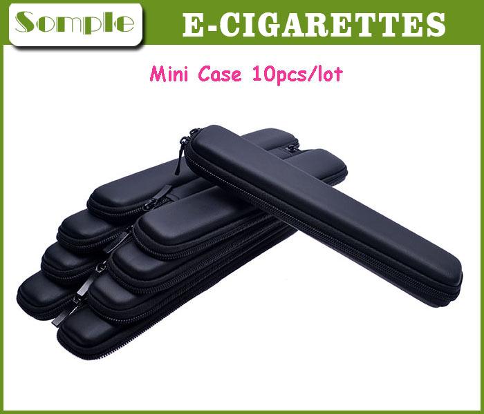 Mini Slim Case For Electronic Cigarette Kit E Cig Case Mini Case Only Black Color Small Zipper Carry Bag Zipper Case 10pcs/lot(China (Mainland))