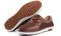 Promotion men's 100% genuine leather shoes,new breathable shoes,High quality drive shoes,special offer,free shipping,BBC005