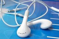 200pcs/lot Grade-A Blue Chip Earphone Headphone with Mic & Talk Volume Control Earphones for iPhone 3G 3GS 4G 4S 5G