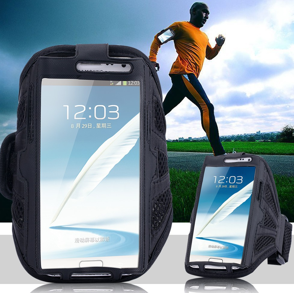 Universal Mesh Breathing Holes Running Sport GYM Armband Case For Samsung Galaxy Note 2 N7100 / Note 3 N9000 / Note 4 N9100 FLM(China (Mainland))