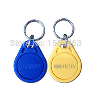 passive rfid tag, 125KHz keyfob for gyms/club members and fitness centers(China (Mainland))