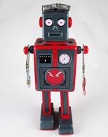 Magic Show Retro Handmade Tin Clockwork Collectibles Toy Mechanical Robot DH338