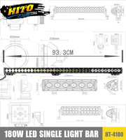 Single light bar,Super bright 180W LED light,SUV,truck light,pickup light.,hight power lamps