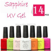 (Choose 14) Sapphire Nail Gel Polish Soak Off Nail Gel UV Long Lasting 80 Gorgeous Colors The Best Gel Polish