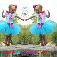baby frozen dress kids girl children dresses summer clothes 5pcs wholesale Alsa Anna sister dress butterfly dress cute lovely