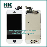 10pcs/lot lcd display replacement for iphone5 iphone 5 lcd assembly+home button+front camera no dead pixel,DHL free shipping