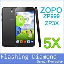 5x In Stock ZOPO 999 ZP999 Mobile Phone Diamond Screen Protector ForZOPO ZP3X ZP 3X ZOPO 3X 5.5″ Protective Film-Wholesales