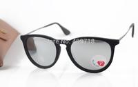 2015 New Fashion Sunglass Brand Eyeglass Men's/Women's Designer 4171 ERIKA Velvet Black Sunglass Silver Mirror Lens Polarized