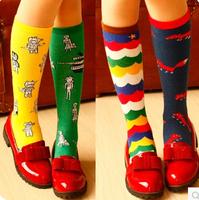 Christmas Stocking Retro-style women fashion cotton socks Knee-High Socks lovely creative cartoon Loose socks+ free shipping