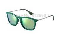 Hot Best Quality fashion retro brand name 4187/6082 / 3R erika velvet sunglasses green mirror 54mm glasses free shipping