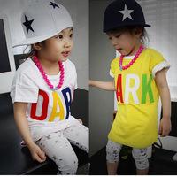 2014 new Children pentagram flat brimmed baseball cap Korean hip-hop cap children Color stitching cap Boys and girls general cap