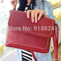 20 цвет моды женщин конфеты цвет посланник пу кожаный мешок девочек опрятный стиль конверт почтальон сумка