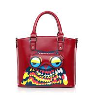 The new owl bag Korean adorable fashion handbag leisure cool major suit Female bag