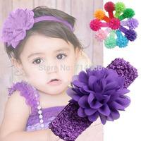 10pcs Lovely  Baby Elastic Headbands Girl Hair Accessory Infant  Flower Hairbands Headwear Free Shipping