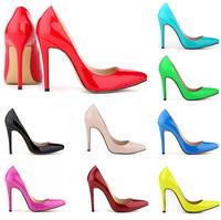 15 color Fashion Women Pumps Bottom High Heels Sweet Princess Bow Shoes Round Toe Party Wedding Platform Pumps EUR Size 34-42
