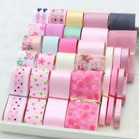 HOT 28yard Mixed Colors and Different Widths Sewing Tape Organza/Satin Ribbons grosgrain ribbon Ribbon Set DIY Bow handmade