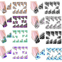 50pcs Sexy Stickers Nail Art Tips French Decorations Nail Decals Nail Patch Manicure New Designs Colorful DIY XF1299-1331