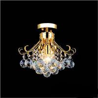Modern Luxurious gold k9 crystal chandelier 44 cm  diameter LED lamps