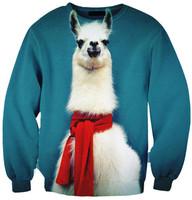 New 3D Alpaca Unicorn Print Women Sweatshirts Men Hoodies Novelty Galaxy Pullover Sweaters Sportwear Sweatshirt