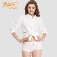 Classic plus size 100% cotton briefs women's 100% high waist cotton breathable super soft skin-friendly trigonometric