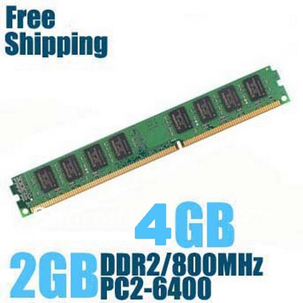 Brand new sealed ddr2 800/pc2 6400 2gb 4gb bureau de mémoire ram compatible avec ddr 2 667 mhz/533 mhz shippiing libre