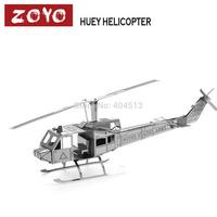 DIY model Build Metal 3D Models Metallic Nano Puzzle DIY 3D Huey Helicopter Laser Cut 3D Model,1 pcs free shipping