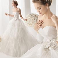 Free shipping New 2015 custom made Wedding Dress sweetheart organza bridal gowns vestido de noivas