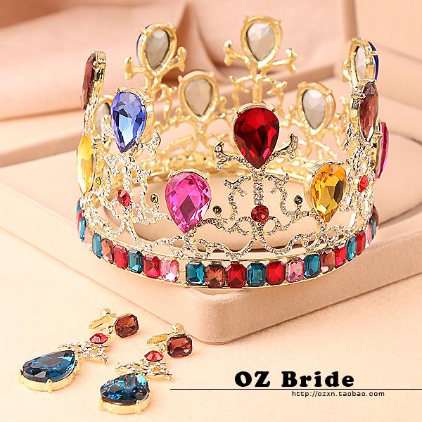 2014 flower marriage accessories dream seven multicolour stereo the bride big circle