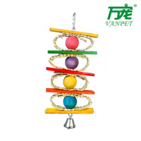 Free Shipping Handcraft Non-toxic eco-friendly Colorful Bird Toy small and medium parrots Toys Pet toys