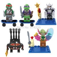 bela10271-10275 turtle minifigures ninjago Spider Bytet Nutated Dr. o'neiv with weapon skateboard generation building blocks toy
