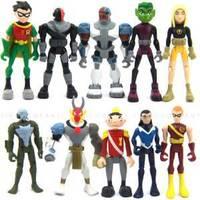 DC COMICS TEEN TITANS ROBIN BEAST BOY CYBORG BANDAI FIGURE XMAS GIFTS M17