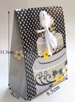 8.5x4x11.3cm Birthday Party Gift Favor Boxes Sweet Bags candy paper bag 100pcs/lot