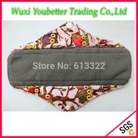 Charcoal Bamboo Mama Cloth Reusable Menstrual Pad Sanitary Napkins