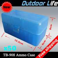 EMS free shipping 50 pieces Engineering PP (Polypropylene plastic) Handgun Ammo Boxes,Rifle ammo boxes / ammo can (TB908)