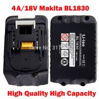 100% brand new 4A/18V replace cordless drill li-ion battery for Makita BL1830, 194204-5 194205-3, LXT400 194309-1, BL1815 BL1835