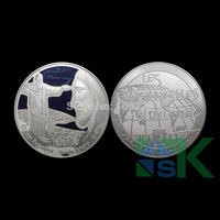 [ New ]Free Shipping 40*3mm 5pcs/lot  Brazil Principat Dandorra silver plated coins,christ redemptor coin