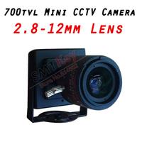 700tvl cmos 2..8-12mm lens mini cctv camera Small cctv camera
