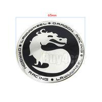 4 x 65MM Dragon Symbol Logo Steering Wheel Center Hub Cap Cover Emblem Badge Decal Symbol Sticker Car Outside Decor #2376*4
