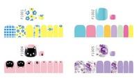 2014 new foot fashion nail sticker nail art nail stickers nail attached environmental protection pregnant women