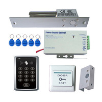 Free shipping RFID keypad access control+bolt lock sets