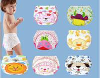 12 color 5pcs/lot 2015 NEW  Baby Washable Diapers/Children Reusable Underwear/100% Cotton Breathable Diaper Cover/Training Pants