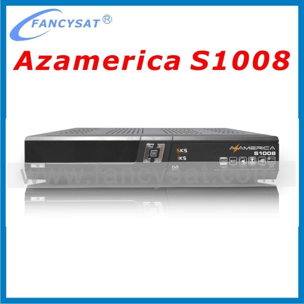 Receptor az america s1008 original IKS+SKS+IPTV+3D nagra3 azbox titan decoder for south america(China (Mainland))