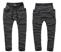 Free Shipping 2014 Mens Joggers Fashion Harem sport Pants for Jogging Dance Hip Hop Slim Fit  6 Colors Size M~XXL #ZJJ95