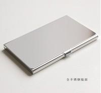 (50pcs/lot) metal name card holder business card case holder promotion gift wedding gift blank DIY