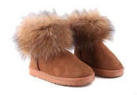 free shipping 2014 autumn winter boots flat shoes short tube snow winter boots size 5-10 women shoes
