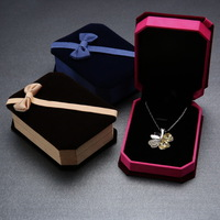 2014 Fashion jewelry boxes octagonal velvet box manufacturers championship ring retail jewelry boxes